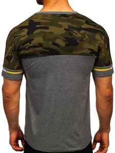 Bolf Herren T-Shirt mit Motiv Grau  SS10977