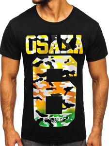 Bolf Herren T-Shirt mit Motiv Schwarz  KS1958