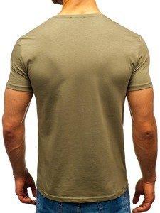 outlet store fbcef 46ada Bolf Herren T-Shirt ohne Motiv Khaki 9001-1