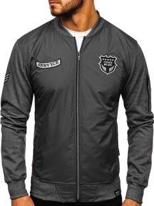 Bolf Jungs Sweatshirt mit Motiv Grau  3803